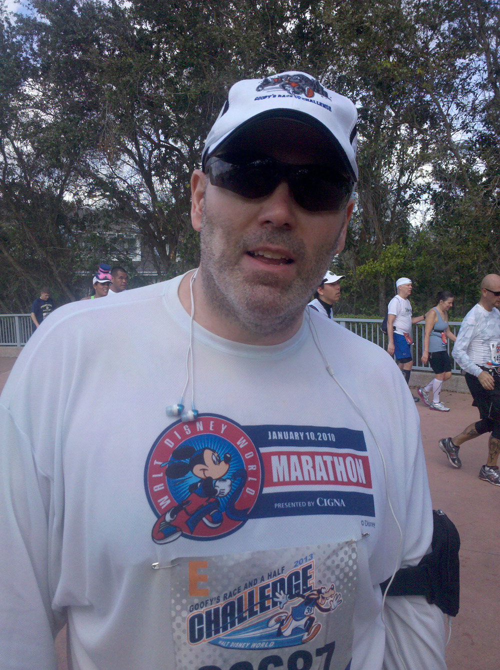 me just before entering Epcot with about 1.5 miles to go