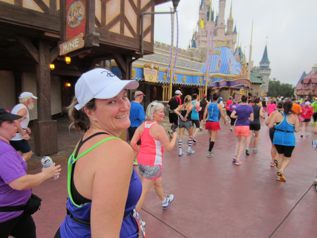 Heather @ Magic Kingdom during Disney World half marathon