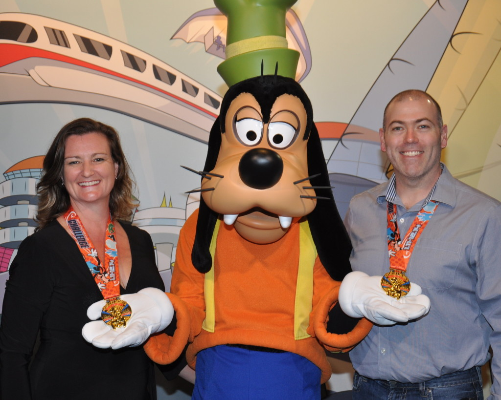 Heather and Ted with Goofy