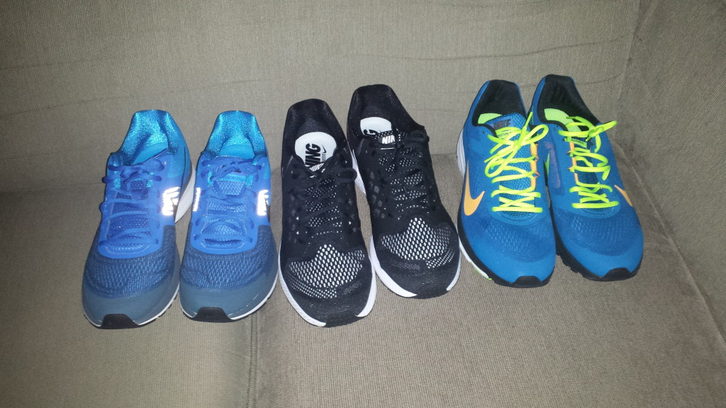 Nike Pegasus 30, 31 and Structure 17